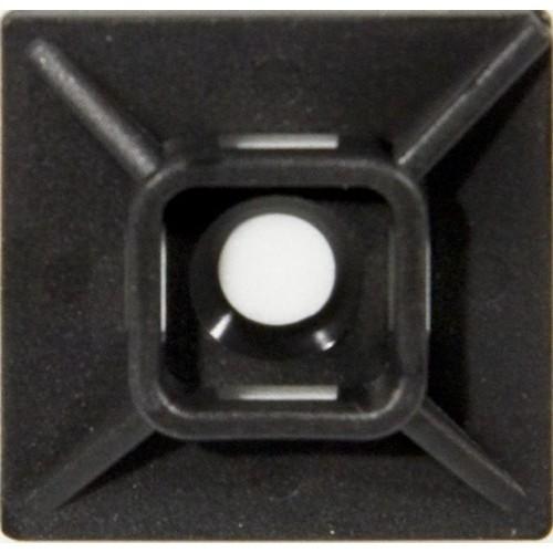 "Self-Adhesive Tie Mounts UV Black 1.1"" x 1.1"""