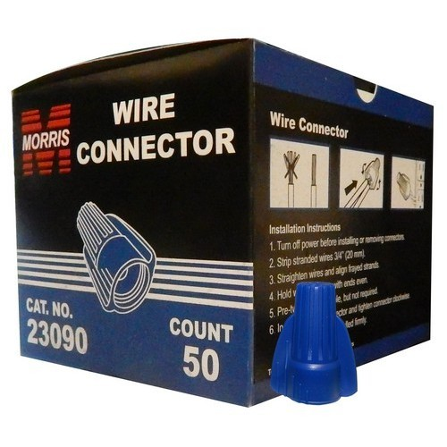 Winged Twist Connectors Blue Boxed 50 Pack