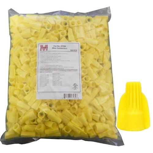 Twisted Wing Connectors Yellow Bagged 500 Bulk Pack