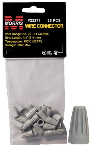 23271 Screw-On Wire Connectors P1 Gray Hanging Bag 25 Pack