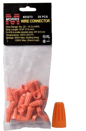 23273 Screw-On Wire Connectors P3 Orange Hanging Bag 25 Pack