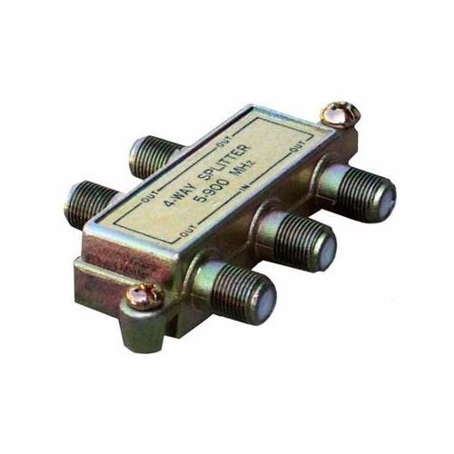 Morris 45050 4 Way Splitters with Ground Block 5-900 MHz