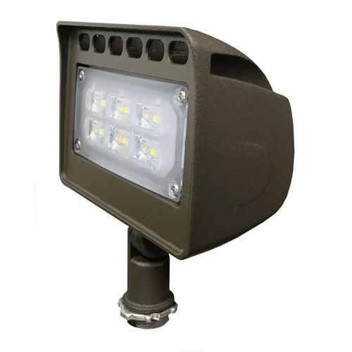 4357 lm 120-277V 5000 K Morris 71346 LED ECO-Floodlight with 1//2 Knuckle 50W Bronze