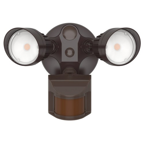 72562A LED Motion Activated Security Flood Light Dual-Head 20W Bronze 3000K