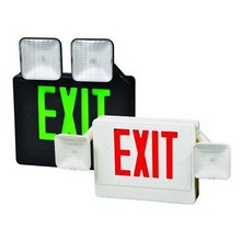 Combo LED Exit Emergency Light - This Emergency Light and LED exit sign provides twice the safety for half the price.
