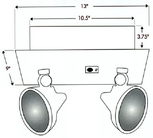 Recessed Twin Dual Head Emergency Light Lights Lighting