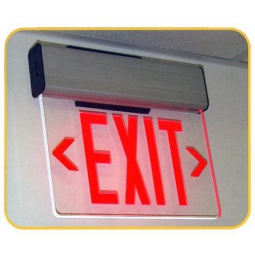 surface mount edge lit led exit signs