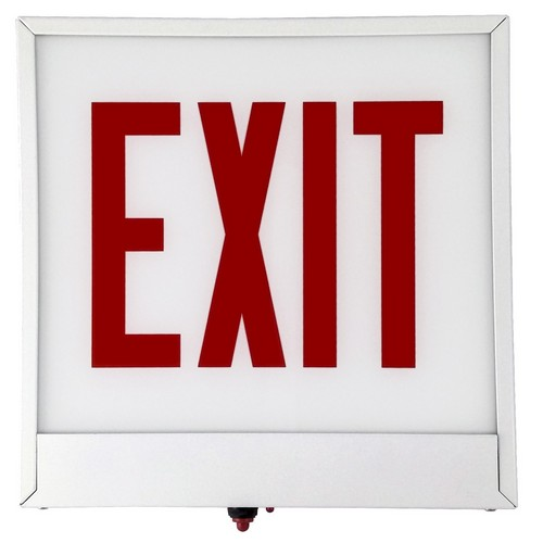 LED Chicago Code Exit Sign With Battery Backup