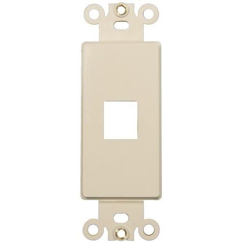 88122 Decorative DataComm Frame For Keystone Jack and Modular Insert 1-Port Almond