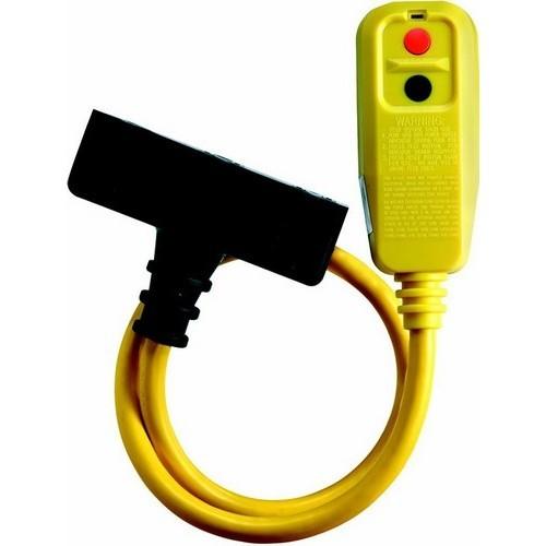 Rt Angle Tri-Tap Portable GFCI