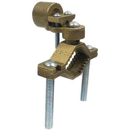 "Copper Ground Clamps - Serrated Collar - Rigid Conduit - 1-1/4"" - 2"" Pipe - 1"" Hub"