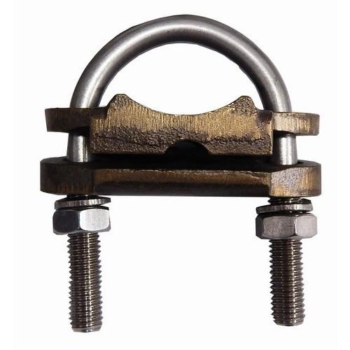 """Copper Ground Clamp - U Bolt - 1 Conductor 3"""" Pipe   #4 - 250 MCM"""