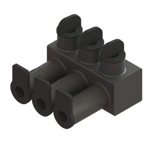 Submersible Insulated Streetlighting Connectors Multi-Port #14 - 2/0  4 Port